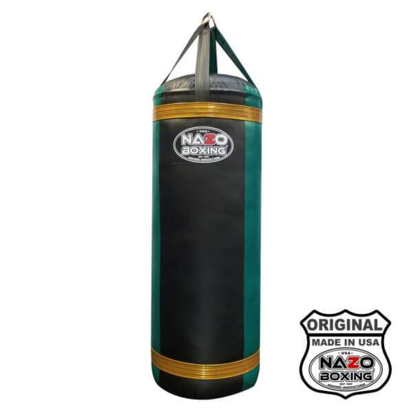 4 FT XL Black Green Punching Bag Made in USA