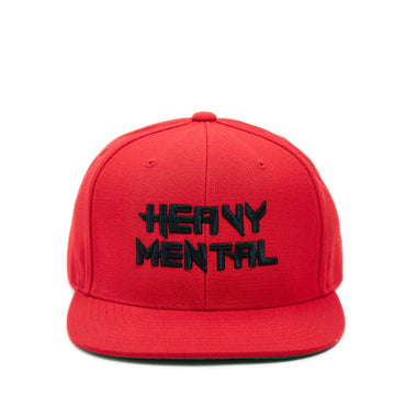 Heavy Mental Snapback - Red