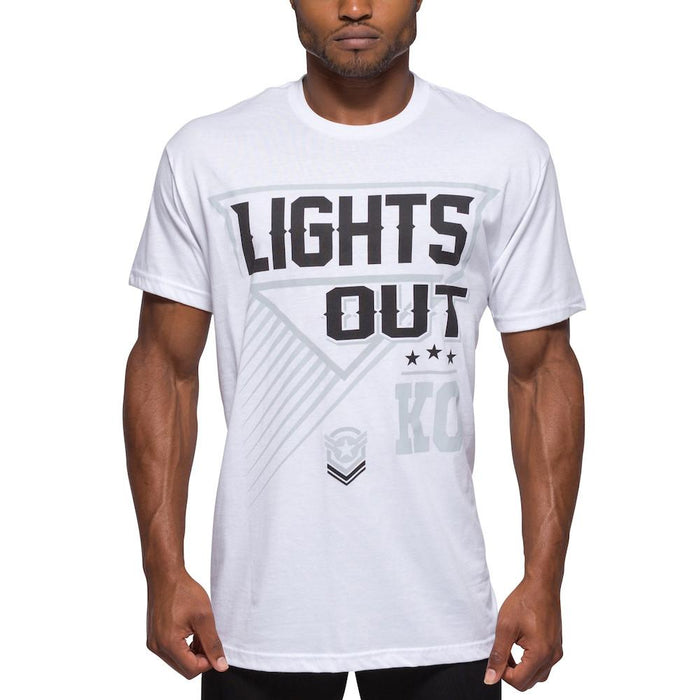 Mens White Lights Out T-Shirt