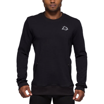 Long Sleeve Crew Pullover - Black