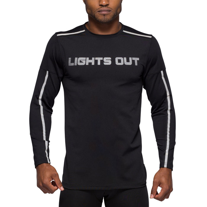 Mens Black Long Sleeve with Pocket, Reflective