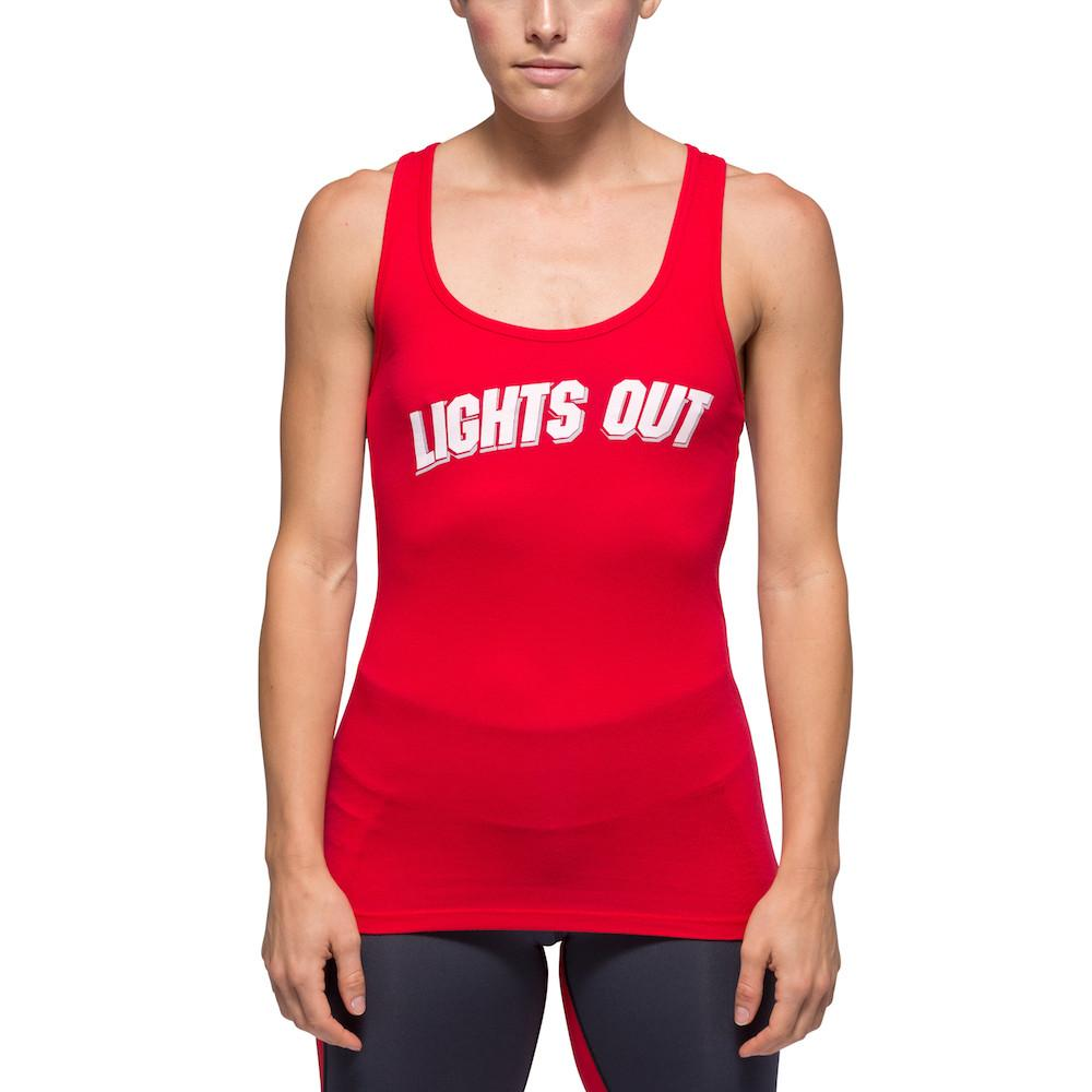 Womens Red Tank - Lights Out