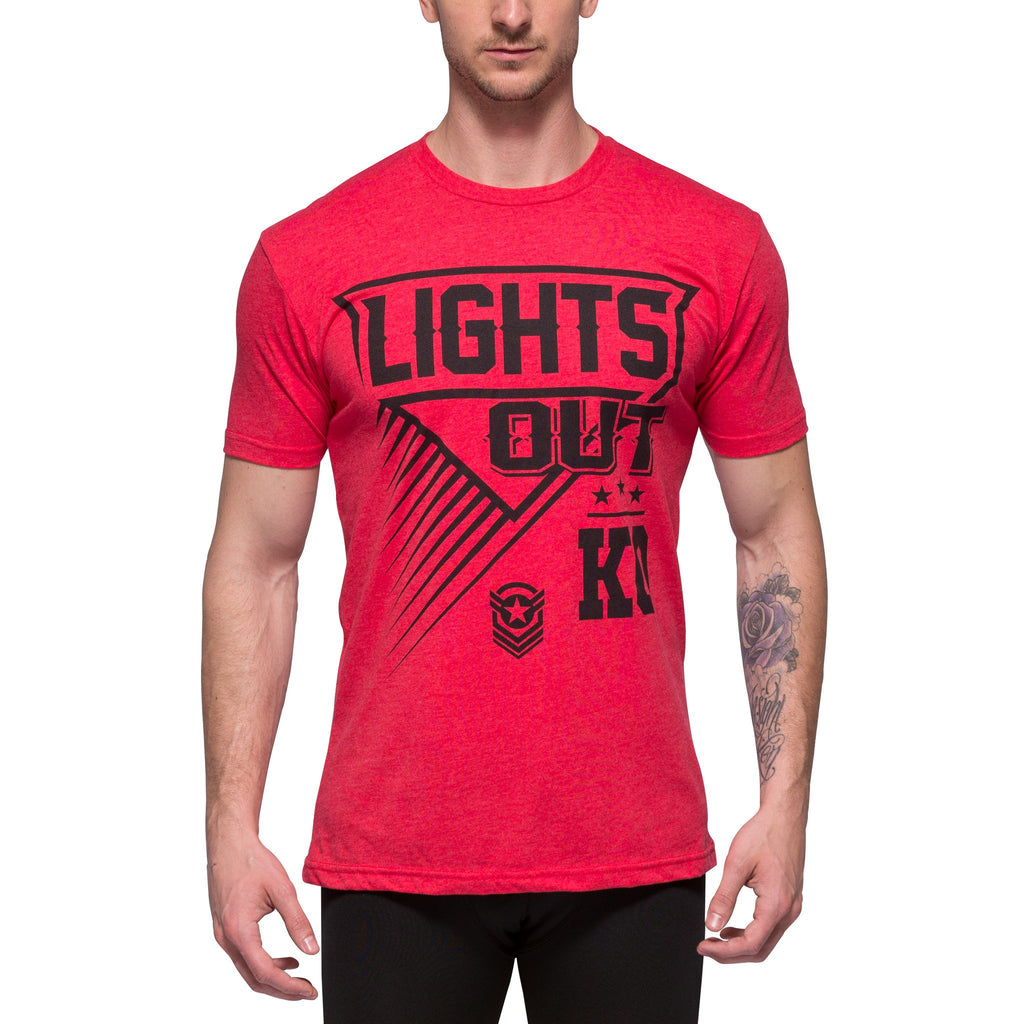 Mens Red Lights Out T-Shirt