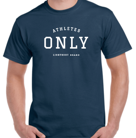 Athletes Only Tee - Navy