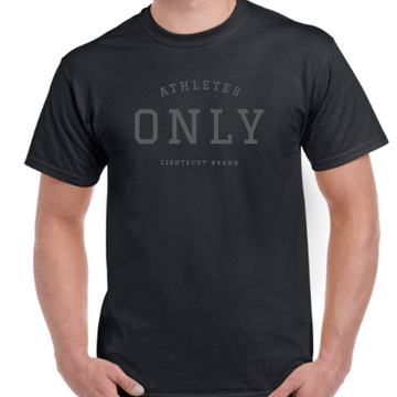 Athletes Only Tee - Black