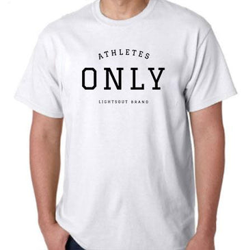 Athletes Only Tee - White