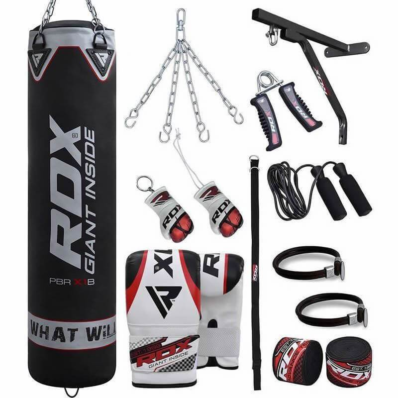 RDX X1 17pc Punch Bag Set with Bag Gloves