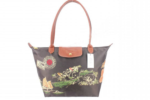 Longchamp Autour De Ha Long Tote Bags Black