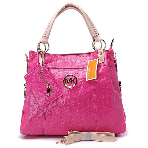 Michael Kors Classic Monogram Removable Strap Large Rose Tote