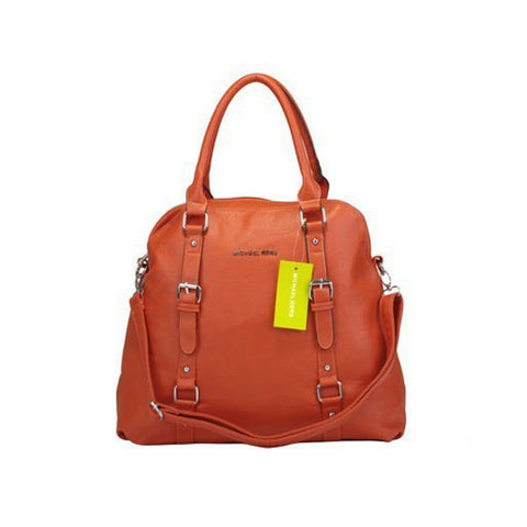 Michael Kors Bowling Large Orange Tote
