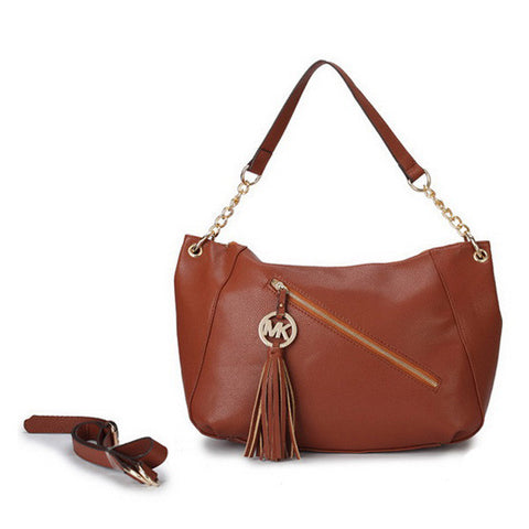 Michael Kors Chain Large Brown Tote