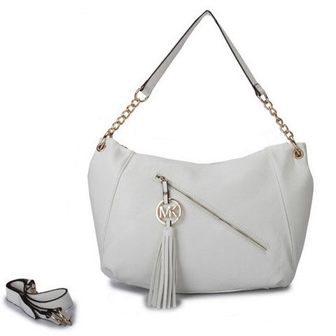 Michael Kors Chain Large White Tote