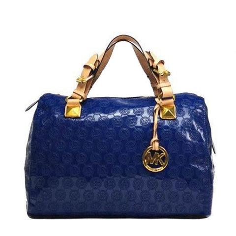 Michael Kors Grayson Monogram Large Navy Satchel