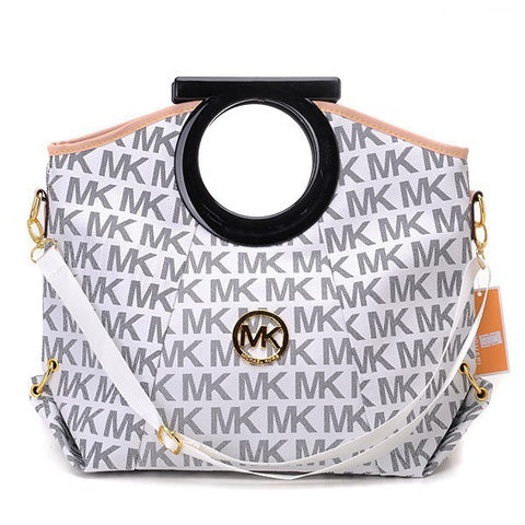 Michael Kors Berkley Logo Large Vanilla Clutch