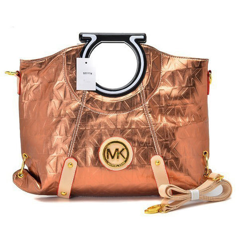Michael Kors Berkley Logo Large Bronze Clutch