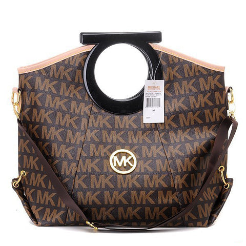 Michael Kors Berkley Logo Large Brown Clutch