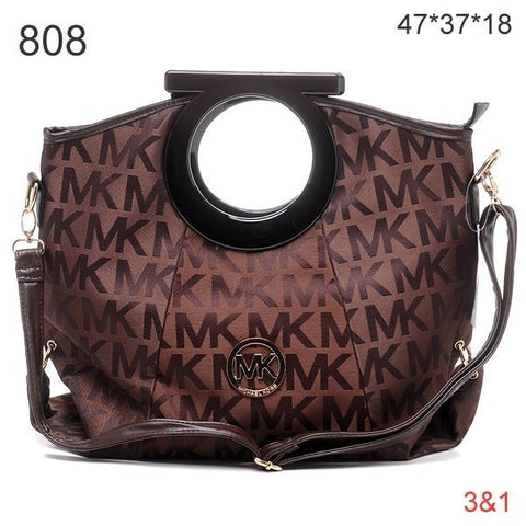 Michael Kors Berkley Logo Large Coffee Clutch