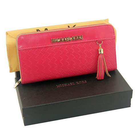 Michael Kors Embossed Leather Large Rose Wallet