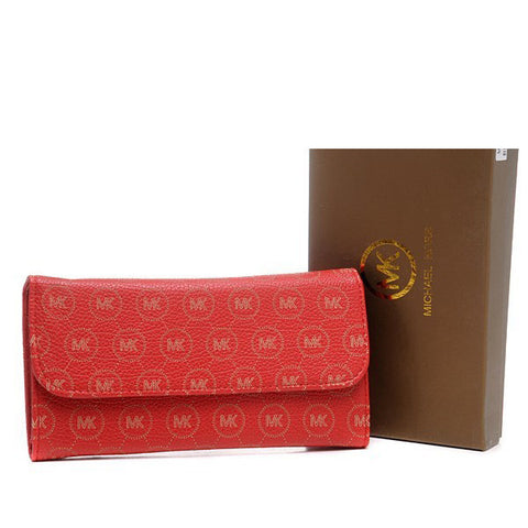 Michael Kors Envelope Large Red Wallet