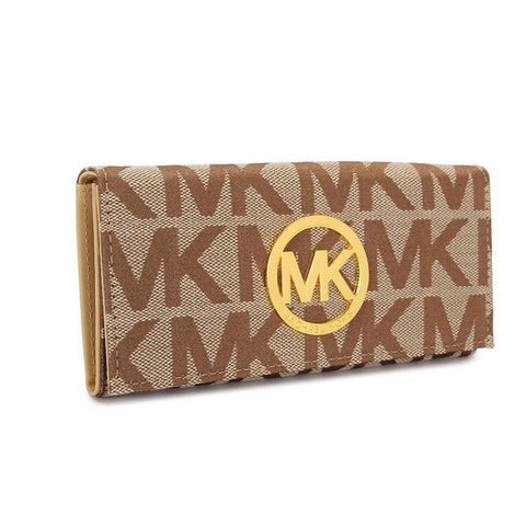Michael Kors Envelope Large Beige Wallet