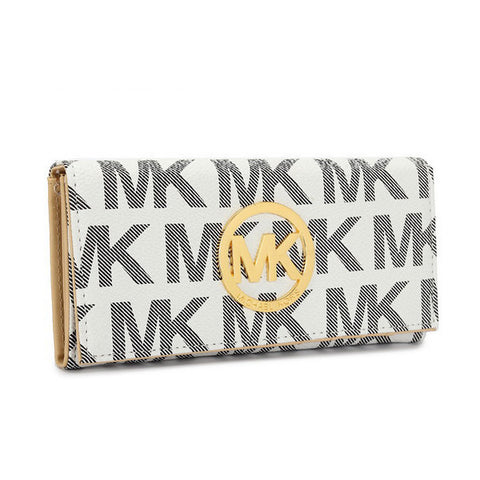 Michael Kors Envelope Large White Wallet