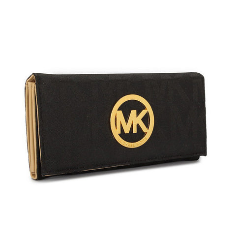 Michael Kors Envelope Large Black Wallet