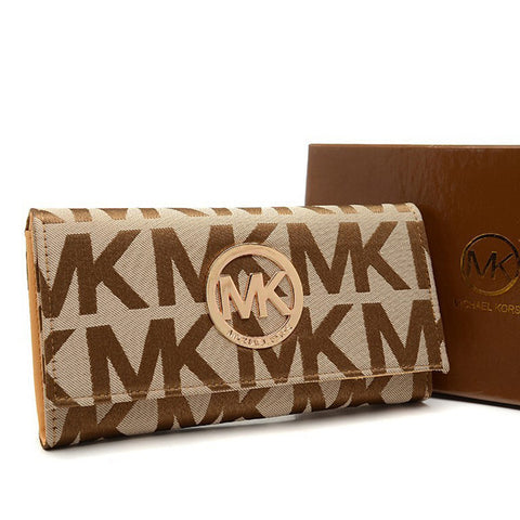Michael Kors Envelope Logo Large Beige Wallet