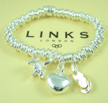 Links of London Bracelet with three charms