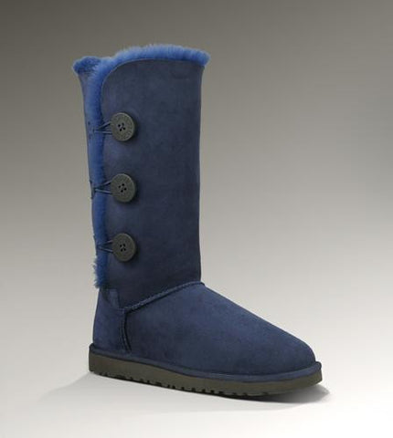 UGG Bailey Button Triplet Boots 1873 Navy