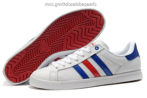 Newcastle Mens Adidas Classic Skateboard Shoes Canvas White Blue