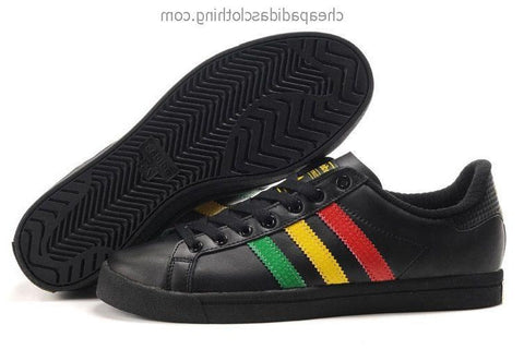 Edinburgh Mens Adidas Classic Skateboard Shoes Leather Black Red