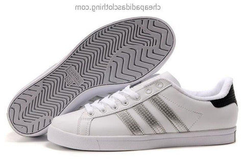 Brighton Mens Adidas Classic Skateboard Shoes Leather White Silver