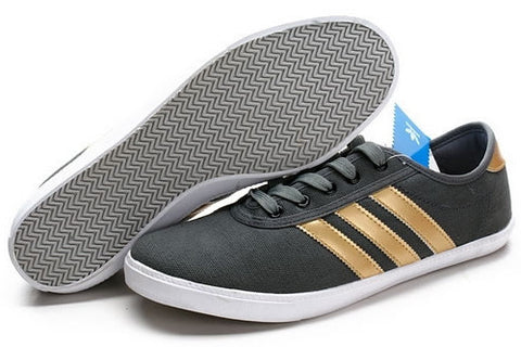 Bath Mens Adidas Casual Leisure Shoes Black Golden