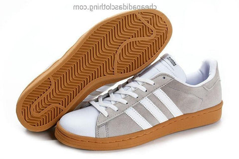 Glasgow Mens Adidas Casual Leisure Shoes Gray White