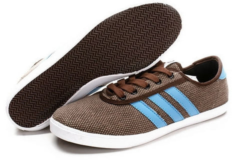 Brighton Mens Adidas Casual Leisure Shoes Brown Blue