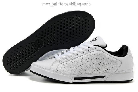 Manchester Mens Adidas Tennis White Black Shoes