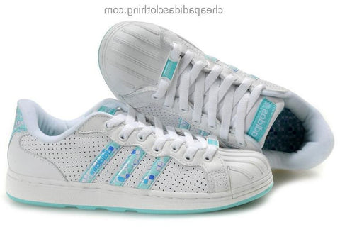 Bath Adidas Superstar Women White Blue