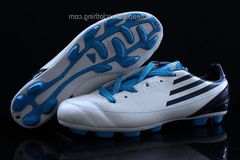 Bristol Adidas F50 Adizero Trx Ag Leather White Black Blue