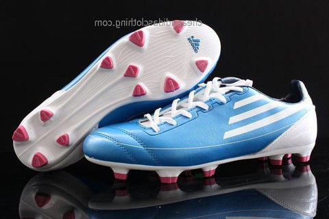 Nottingham Adidas F50 Adizero Messi Villa Football Boots Blue White Pink