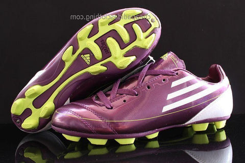 Bristol Adidas F50 Adizero Trx Ag Leather Purple White Green