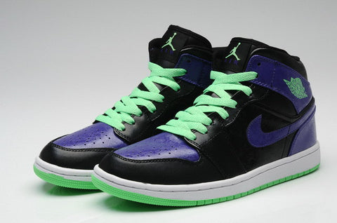 Nike Air Jordan 1 Retro Joker Mens Shoes Black / Purple / Green