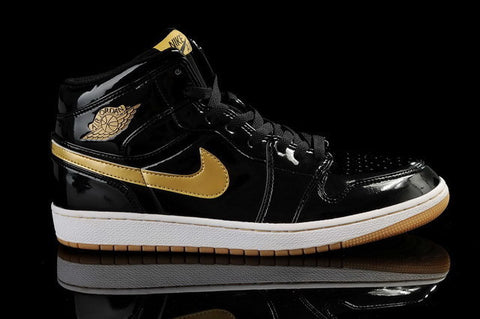 Nike Air Jordan 1 Retro Mens Shoes Black / Metallic Gold