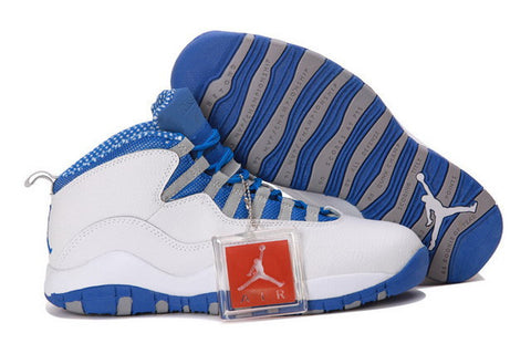 Nike Air Jordan 10 X Retro Txt Mens Shoes White / Old Royal Stealth