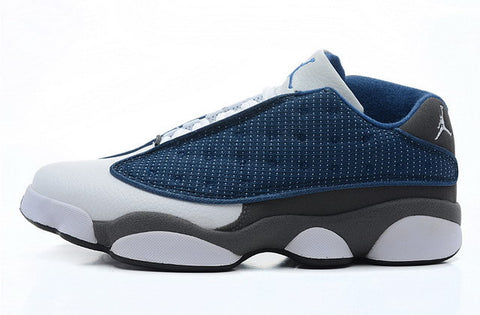Nike Air Jordan 13 XIII Retro Low Mens Shoes Navy / White / Grey