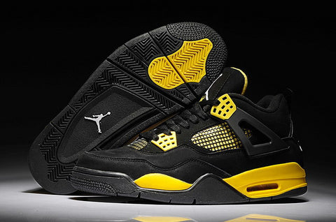 detailed look 1c7df 127fd Nike Air Jordan 4 Retro Mens Shoes Black   White-tour Yellow – ray ban  sunglasses