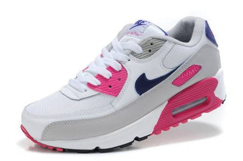 Nike Air Max 90 Womens White/Pink-Cool Grey-Obsidian