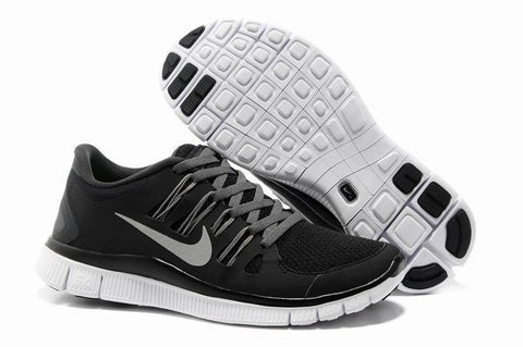 Nike Free 5.0 Black Grey Womens Running Shoes