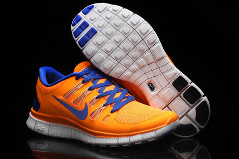 Nike Free 5.0 Orange Blue Mens Running Shoes