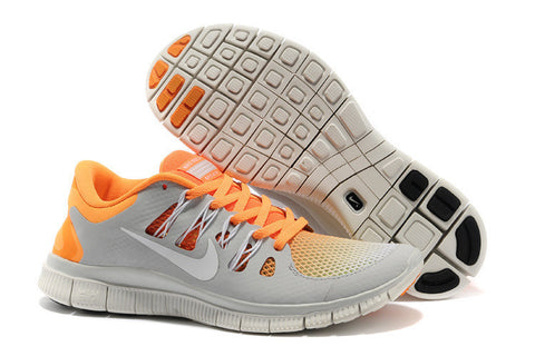 Nike Free 5.0 Orange Grey Mens Running Shoes