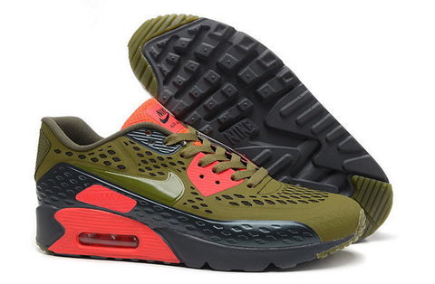 Air Max 90 Ultra BR Womens Shoe Olive / Black / Bright Red